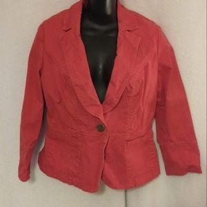 Cabi Blood Orange Blazer Size 8